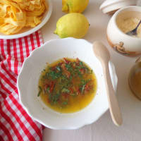 Pappardelle con salsa de limón y tomates secados al sol paso 2