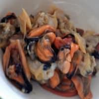 Calamares con mariscos y azafrán paso 4