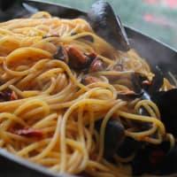 Espaguetis con mejillones paso 3