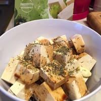 Trozos de tofu crujiente paso 1