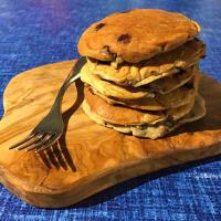Panqueques vegana sin azúcar y arándanos sin gluten