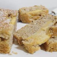 Plumcake con la almendra de manzana y leche de avellana