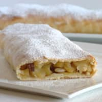 Apple strudel with paste maurizio santin