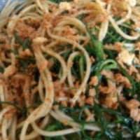agretti y las migas de los espaguetis paso 5