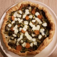 Savory pie with vegetables