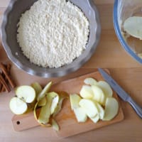 Rice cake and apple gluten step 3