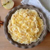 Rice cake and apple gluten step 4