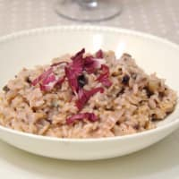 Risotto with radicchio and gorgonzola