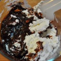 cestas de chocolate con frambuesas y arándanos paso 9