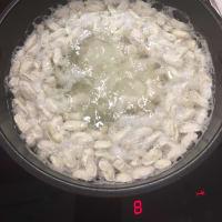 Pasta y frijoles en remojo con rápida paso 2