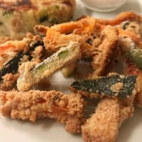 Vegetables in batter baked