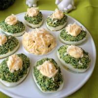 Huevos rellenos de col rizada paso 4