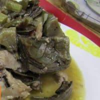 Cordero con alcachofas de Cerdeña Campidanese