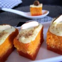 Pasteles de zanahoria y almendras naranja y chocolate blanco paso 6
