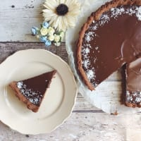 tarta de chocolate vegetariana