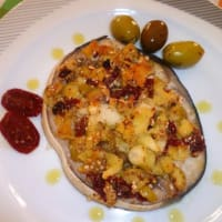 Swordfish with aromatic crust