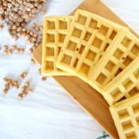Wafle chickpea and flax seeds