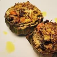Alcachofas rellenas con bicolor quinua