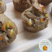Muffin salted capers, mustard, pine nuts and lemon