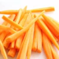 Chips de zanahorias al horno paso 1