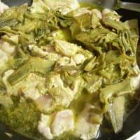 Tiras de pollo con alcachofas paso 7