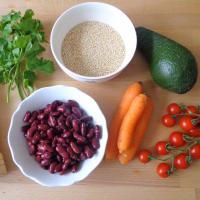 Ensalada de vegetales, quinoa y aceite aromático paso 1