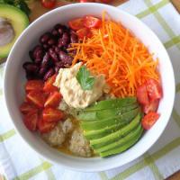 Ensalada de vegetales, quinoa y aceite aromático paso 3