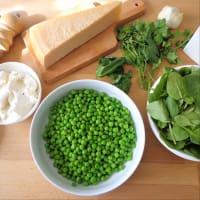 Quiche con guisantes, espinacas, nueces y queso ricotta paso 4