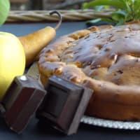 las peras, las manzanas TORTA VEGANO y chocolate paso 6