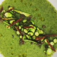 Espárragos con crema de puerros y brócoli paso 5