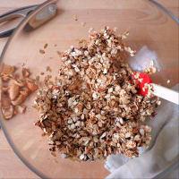 Galletas con las pasas, las almendras y la harina de avena paso 3