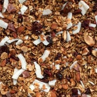 Granola with oats and red fruits