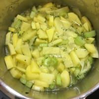 Pasta y patatas paso 1