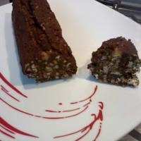 Salami de chocolate sin huevos y mantequilla ...