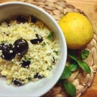 Cuscús con menta y limón