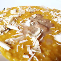 RISOTTO WITH PUMP, PAPER AND TOMBARDS