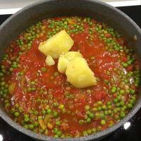 Pasta con salsa cremosa y guisantes paso 4