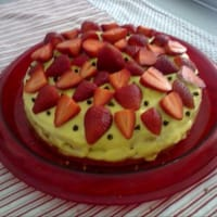 Cake With Pastry And Strawberry Cream ...