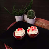 pastelitos de terciopelo rojo