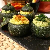 Zuccotti rellena de verduras crudas dos sabores