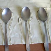 CESTAS y cuchara de los pasteles paso 2
