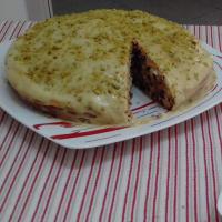 Stracciatella sin mantequilla torta con crema de pistacho ...