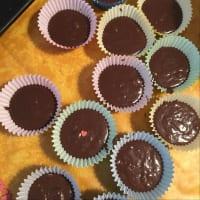 Magdalena del chocolate con harina de avena paso 4