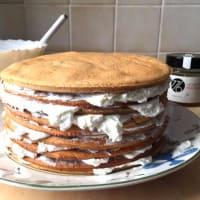 Pastel de capas CON yogur con miel y nata paso 17