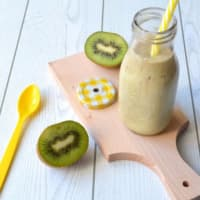 Smoothie with kiwi, coconut and banana