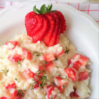 Risotto alle fragole, caprino e timo step 4