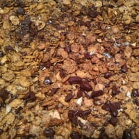Coconut muesli with soy flakes
