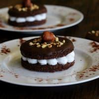 Galletas con el chocolate de cacao cubiertas