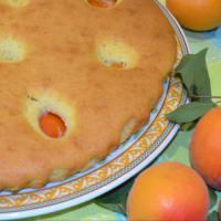 pastel de albaricoque suave