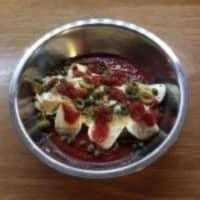 Seitán con salsa de tomate paso 1